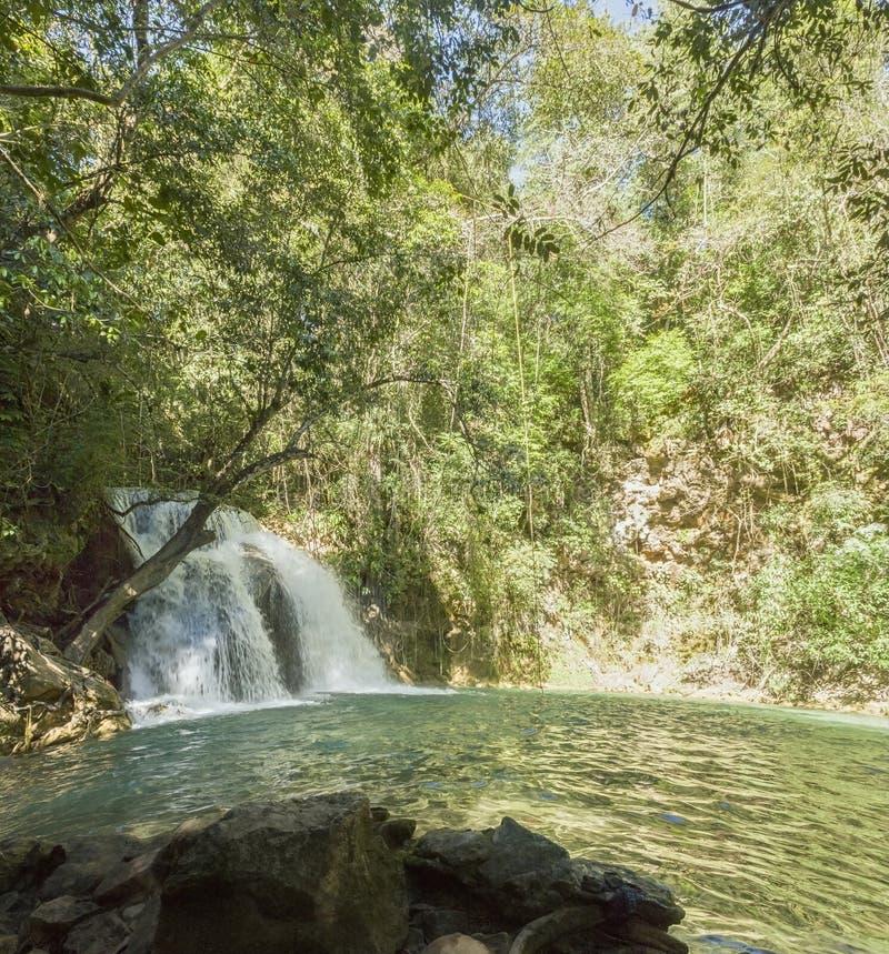 Magical Waterfalls of Copalitilla and Llano Grande, Huatulco ,Oaxaca Mexico. Adventure, attraction, background, beautiful, calcium, carbonate, cascade, cliff royalty free stock photos