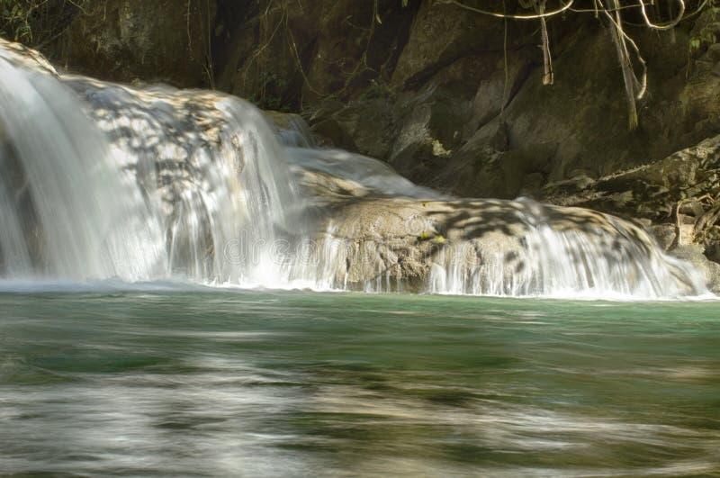 Magical Waterfalls of Copalitilla and Llano Grande. Waterfalls of Llano Grande,Huatulco ,Oaxaca México stock photography