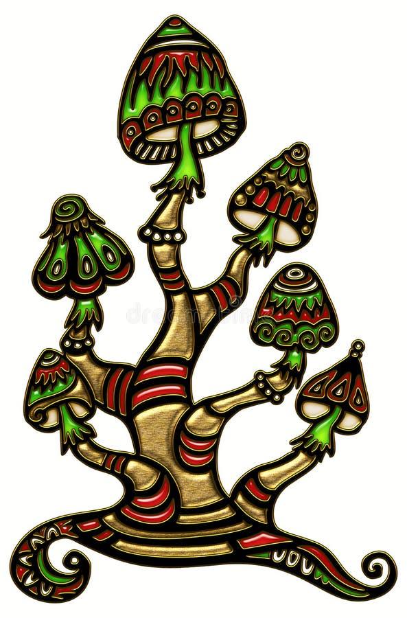 Magichampinjoner royaltyfri illustrationer