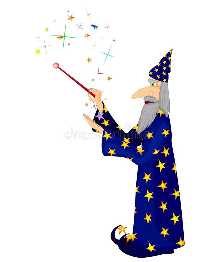 Download Magician stock vector. Illustration of miracle, wand - 14944250