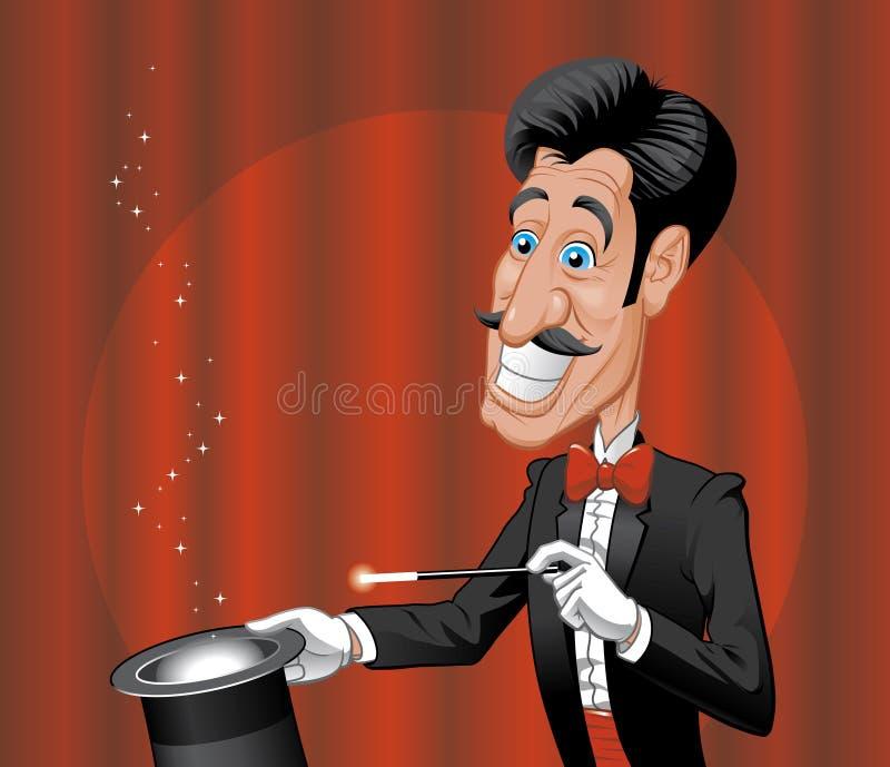 Magician vector illustration