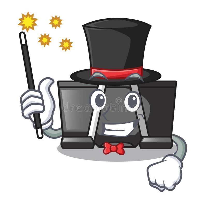 Magician binder clip for charcter on documents. Vector illustration vector illustration