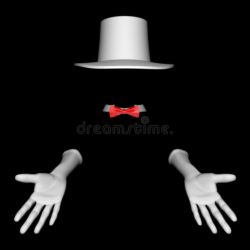 Download Magician hat and gloves stock illustration. Image of fashion - 13014638