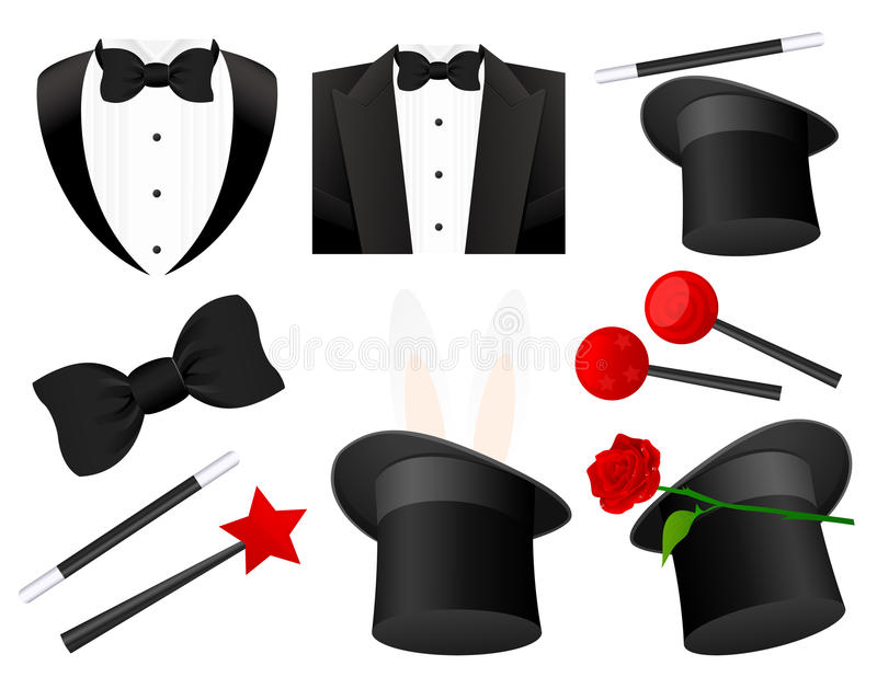 Magician Icons Stock Photography