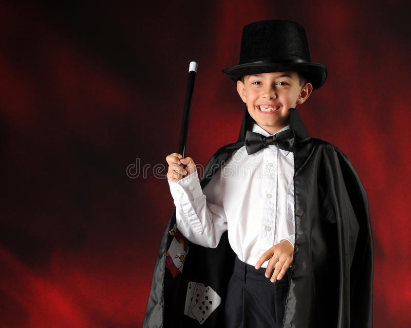 Download Magician in the Making stock image. Image of wand, child - 19945203