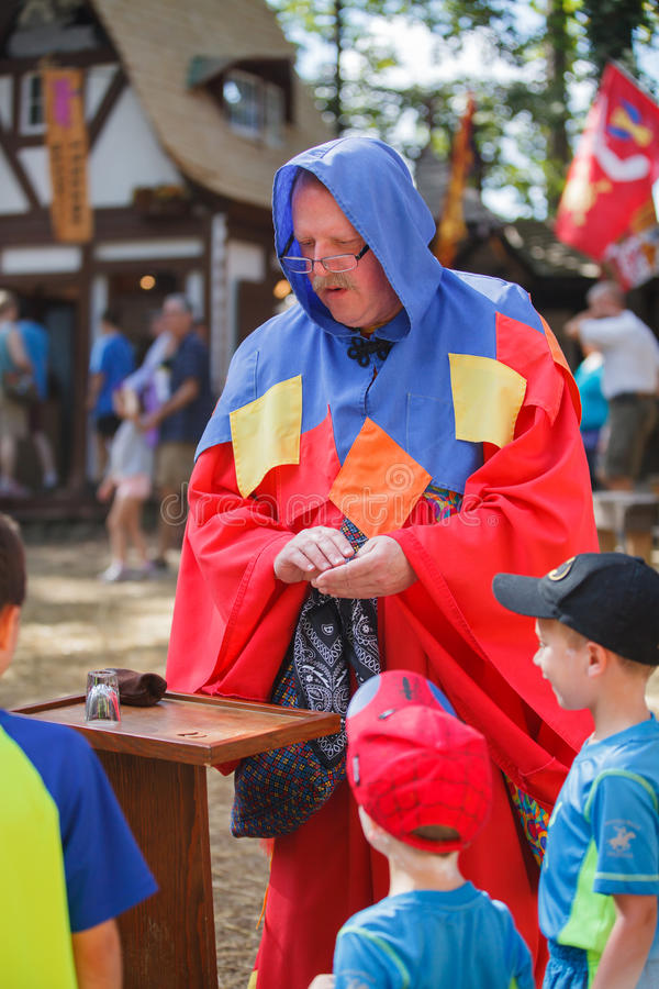Magician Renaissance Festival Maryland stock photo