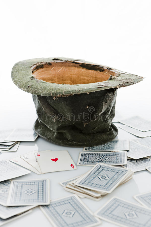 Magician's hat. royalty free stock photography