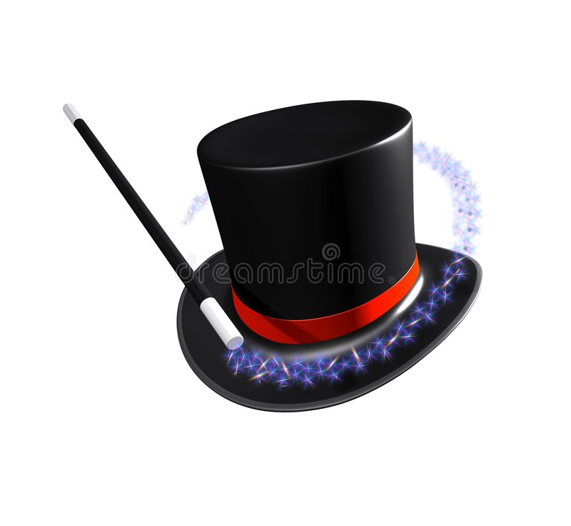 Magicians hat royalty free stock image