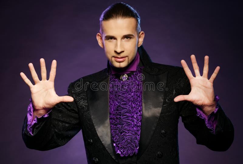 Download Magician in stage costume stock photo. Image of costume - 38917752