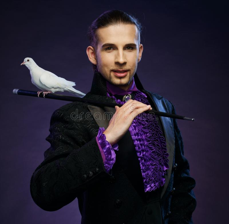 Magician in stage costume
