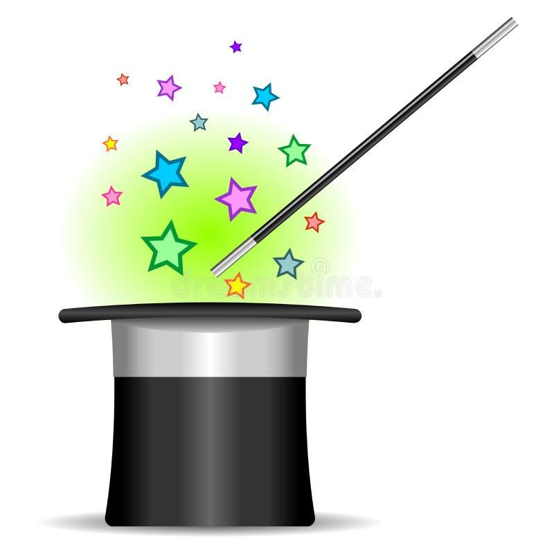 Magician top hat vector illustration