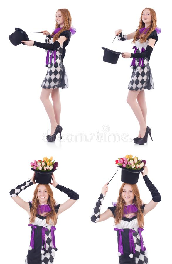 Download The Magician Woman With Wand On White Stock Image - Image of illusion costume  sc 1 st  Dreamstime.com & The Magician Woman With Wand On White Stock Image - Image of ...