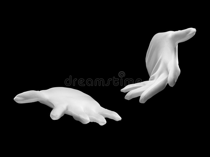 Magicians hands demonstrating trick royalty free stock images