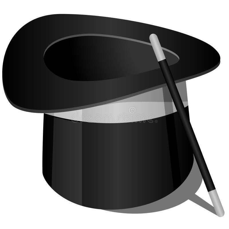 Download Magicians Hat stock illustration. Illustration of illusion - 18962504