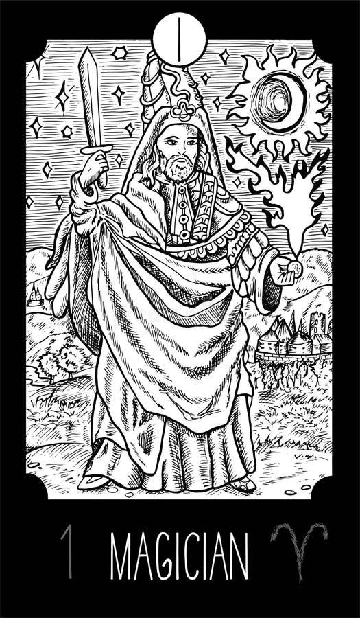 Magicican иллюстрация штока
