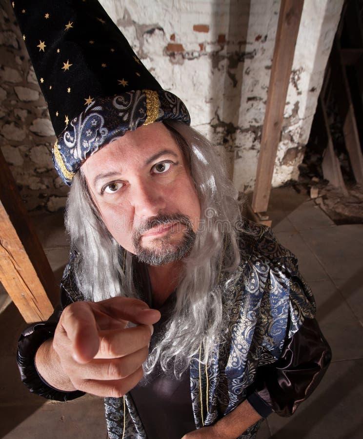 Magicien âgé Par Milieu Image stock