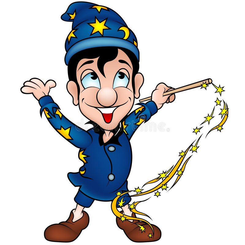 Magicien illustration de vecteur. Illustration du sorcier - 5287559