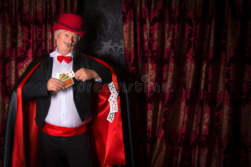 Magicien de fraude de carte photos libres de droits