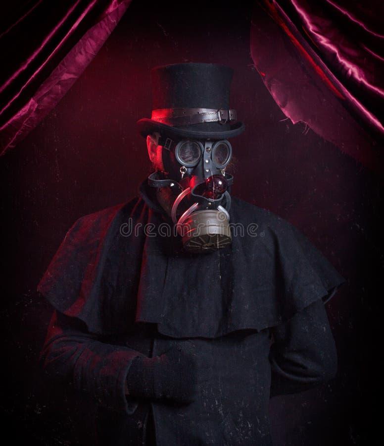 Magicien de masque de gaz images libres de droits