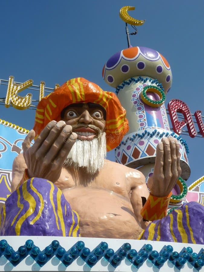 Magicien de parc d'attractions photos stock
