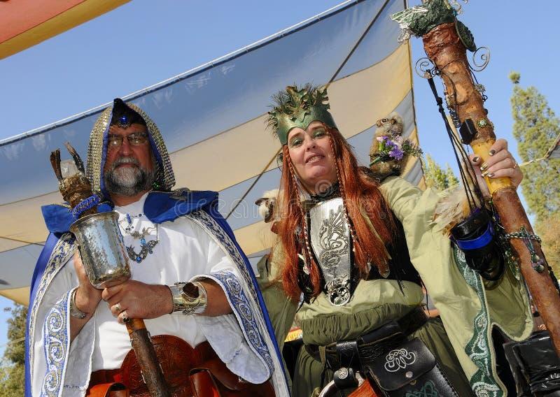 Magicien et druide images libres de droits