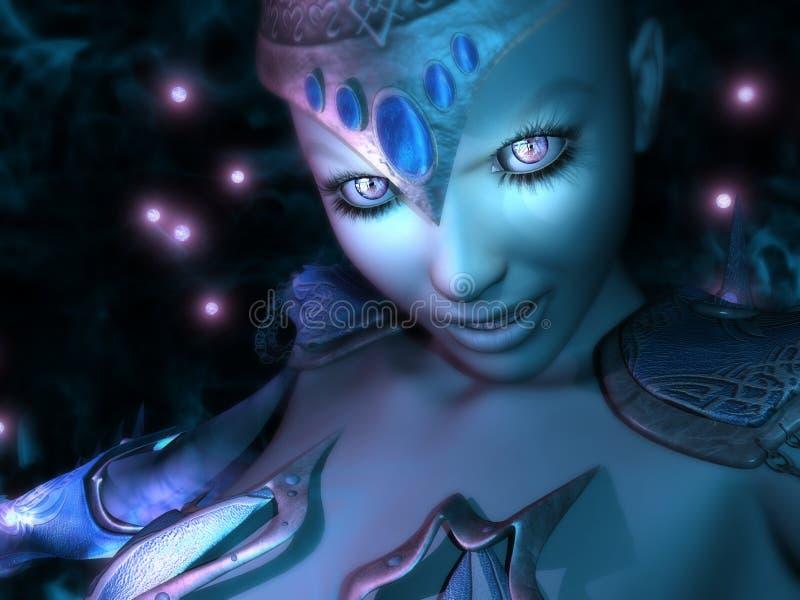Magicien féminin illustration de vecteur