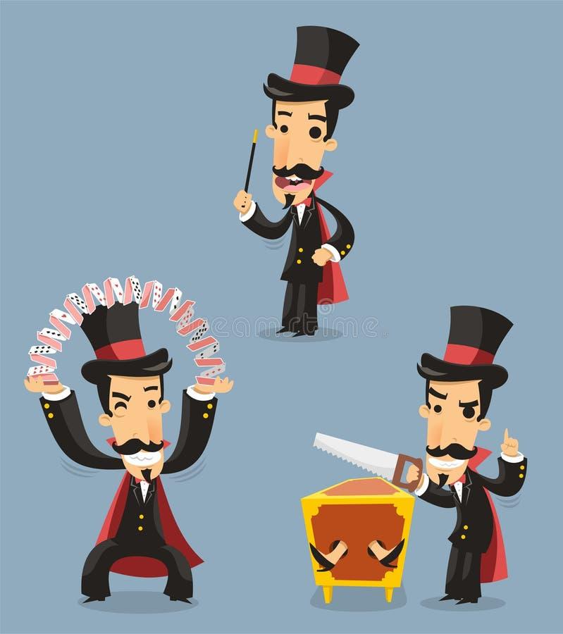 Magicien Magic Trick Performance illustration libre de droits