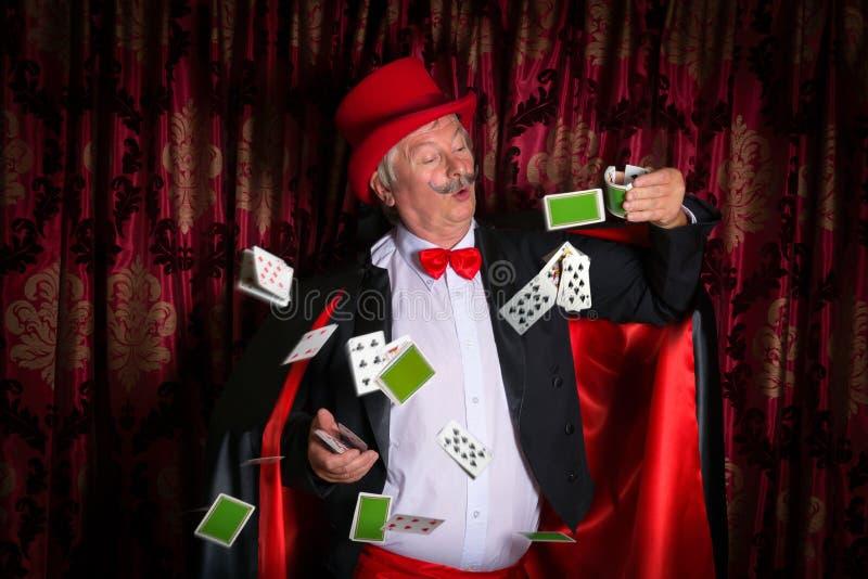Magicien maladroit images stock