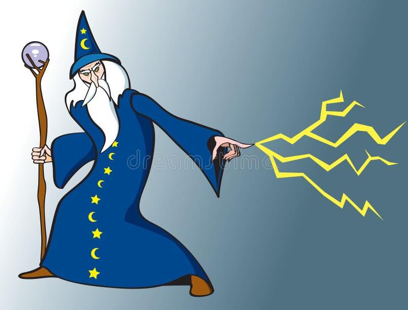 Magicien mauvais illustration libre de droits