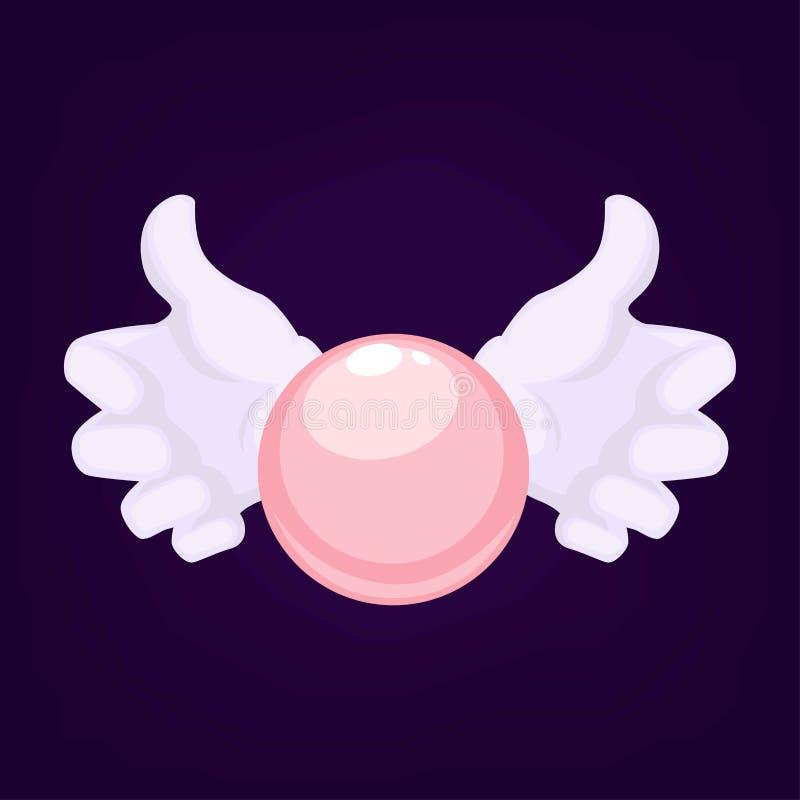 Magicy trzyma kryształową kulę używają dla robić przepowiedniom dla ludzi chce znać przyszłość wręczają być ubranym rękawiczki royalty ilustracja