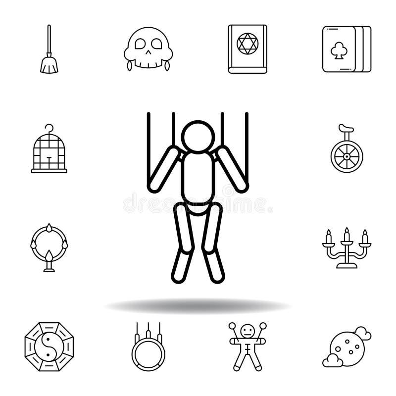 Magiczna atrapa konturu ikona elementy magiczna ilustracji linii ikona znaki, symbole mogą używać dla sieci, logo, mobilny app, U royalty ilustracja
