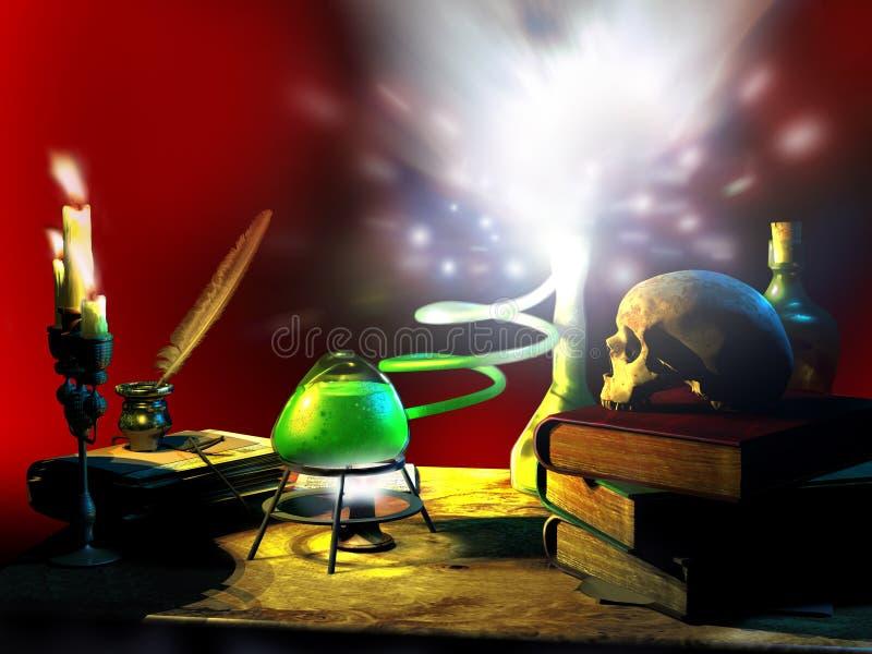 Magiczna chemia ilustracja wektor