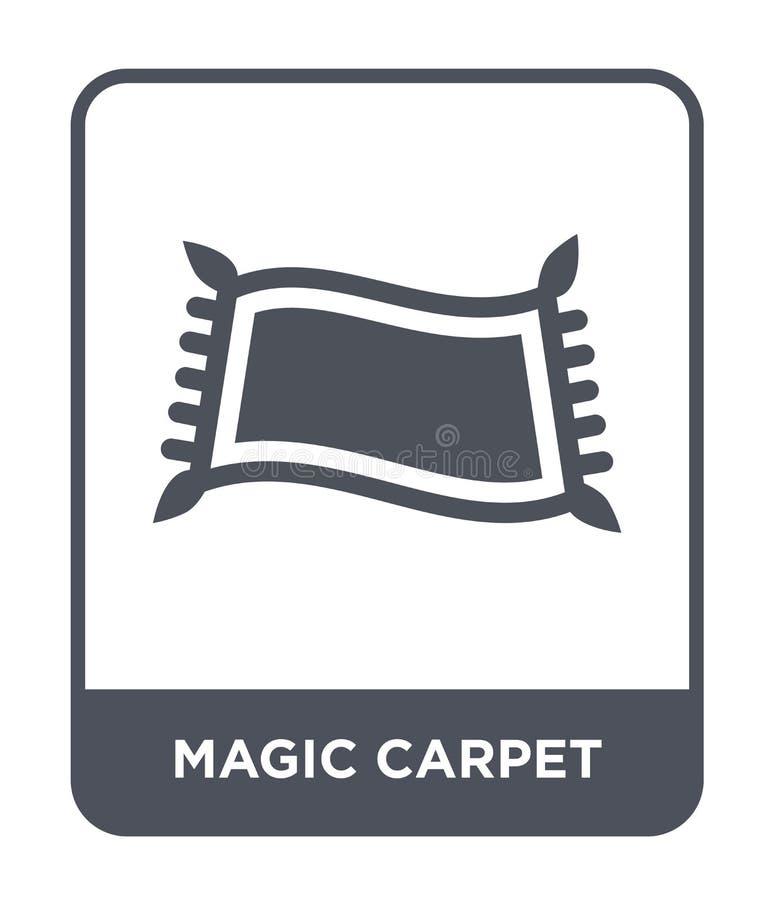 magiczna dywanowa ikona w modnym projekta stylu magiczna dywanowa ikona odizolowywająca na białym tle magiczna dywanowa wektorowa ilustracja wektor