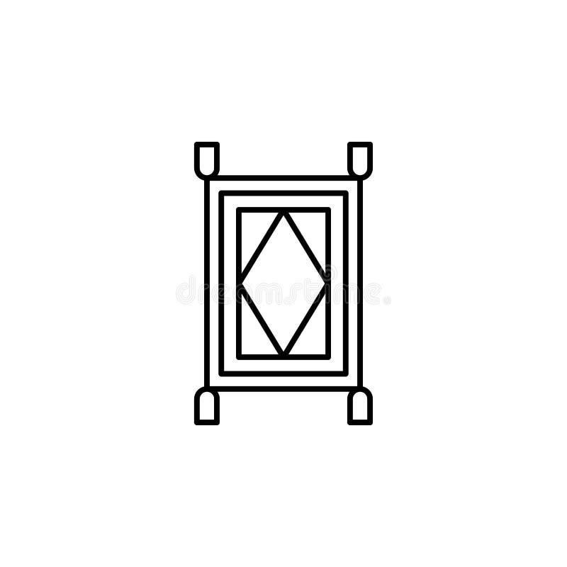 Magiczna dywanowa kontur ikona Znaki i symbole mogą używać dla sieci, logo, mobilny app, UI, UX ilustracji