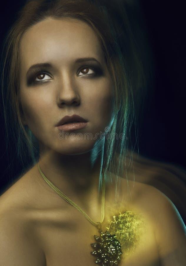 Magiczna dziewczyna fotografia royalty free