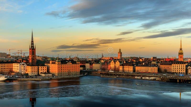 Magiczna godzina przy Sztokholm zdjęcia stock