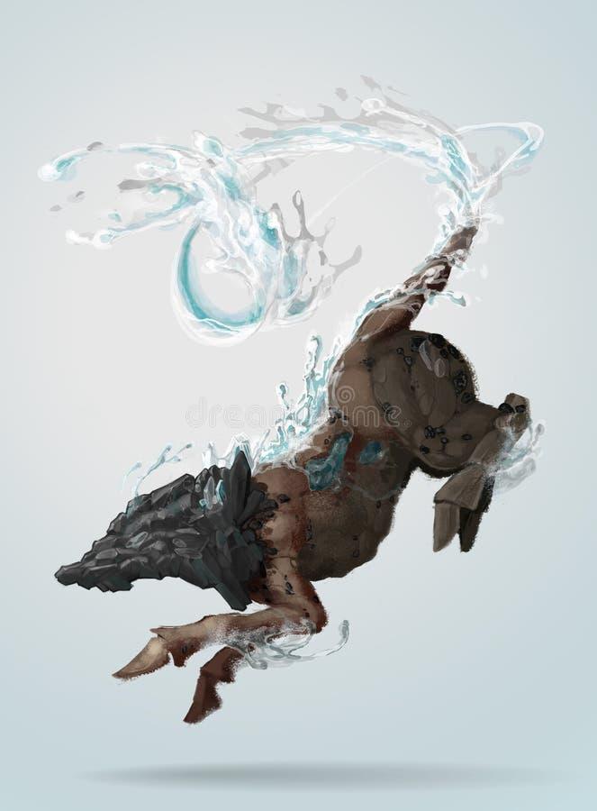 Magiczna istota ilustracja wektor