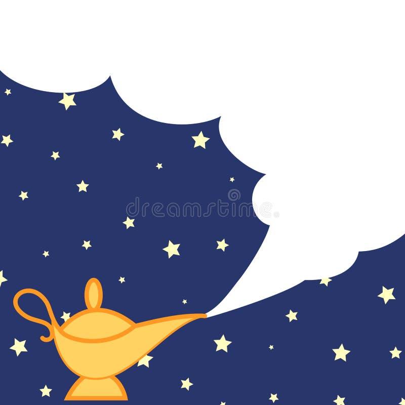 Magiczna lampa i chmura ilustracji