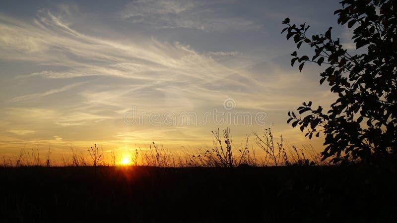 Magiczna natura - wschód słońca zdjęcie stock