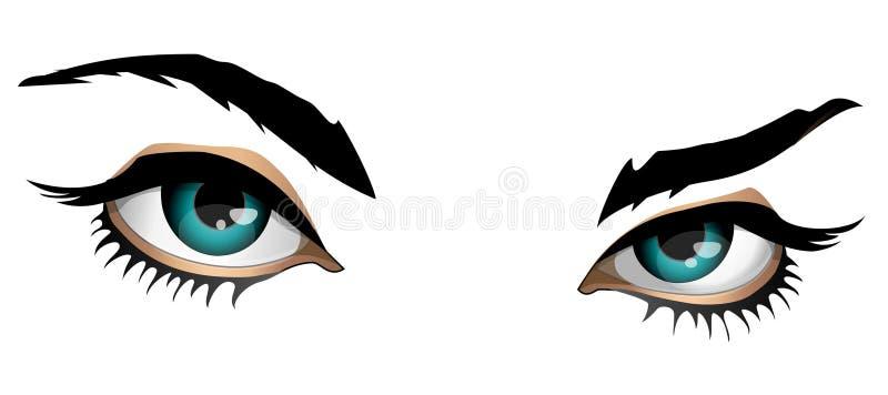 magiczna para oczu ilustracji