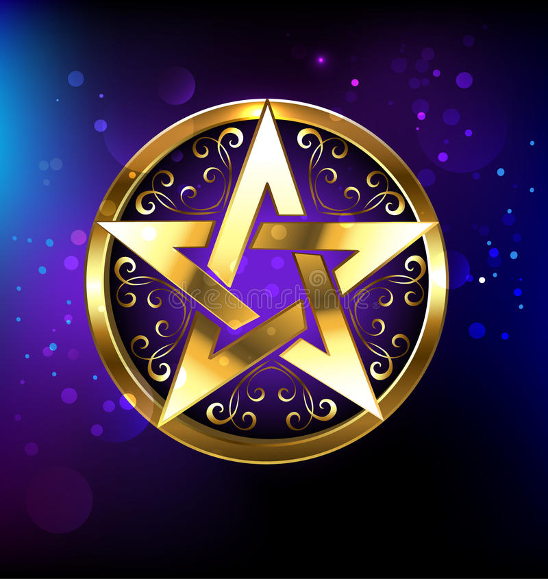 Magiczna złoto gwiazda ilustracji
