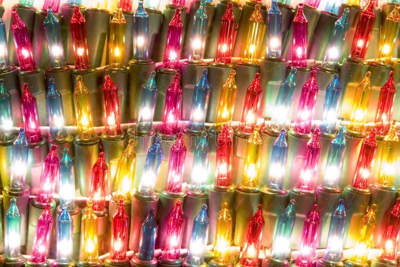 magiczne świąteczne lampki fotografia stock