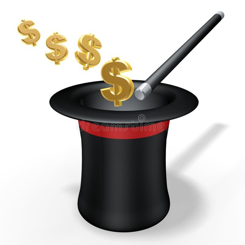 magiczne dolarów. ilustracja wektor