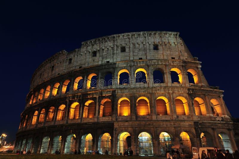 magiczne kolosseum noc Rome fotografia royalty free