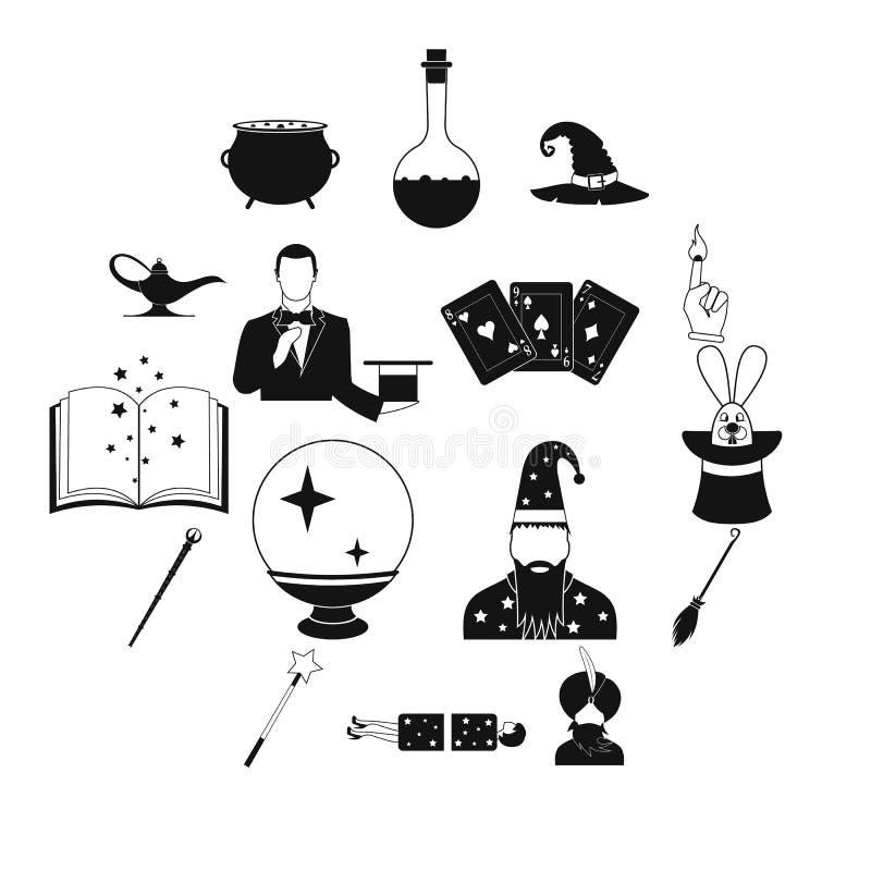 Magiczne proste ikony ustawiać ilustracja wektor