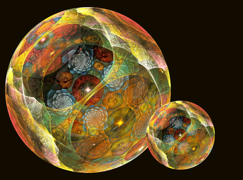 magiczne sfery ilustracji