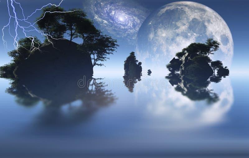 Magiczne wyspy ilustracji