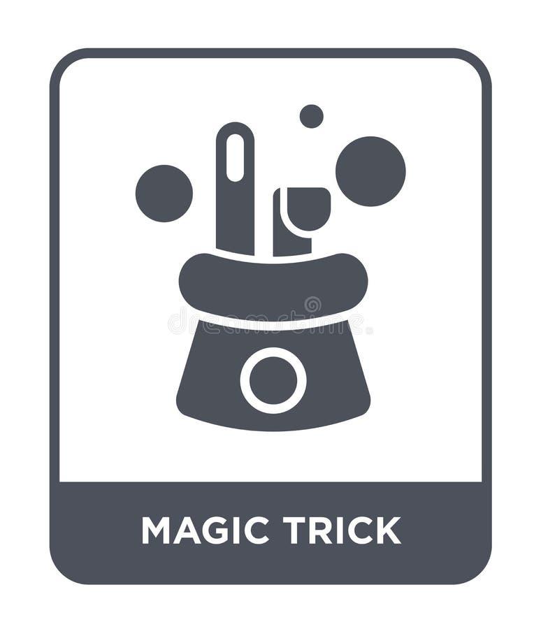 magicznej sztuczki ikona w modnym projekta stylu magicznej sztuczki ikona odizolowywająca na białym tle magicznej sztuczki wektor royalty ilustracja