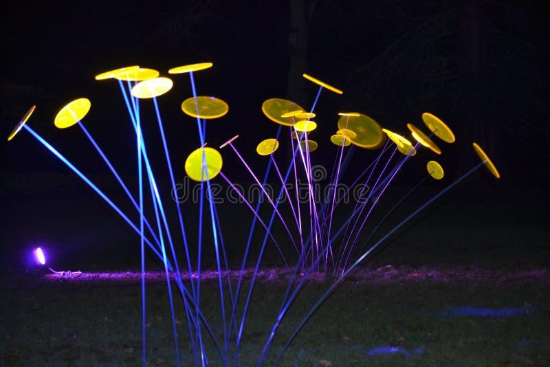Magiczni światła w Gruga parku, Niemcy zdjęcia stock