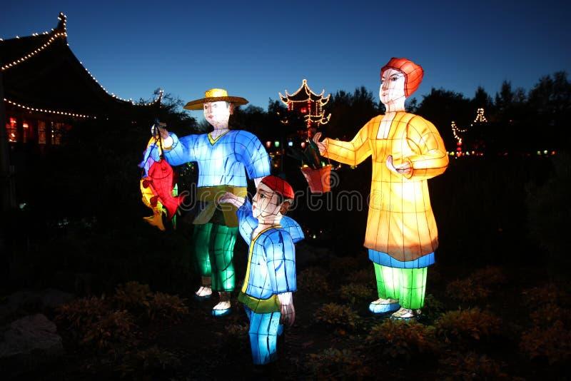 magiczni chińscy lampiony zdjęcie royalty free